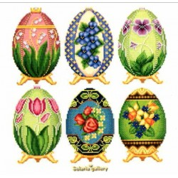 EASTER EGGS IN FABERGE STYLE COLLECTION 2 Solaria Gallery