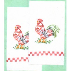 320 314 rooster hand towels