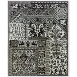 DEATH BY CROSS STITCH Long Dog Samplers
