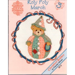 CHERISHED TEDDIES ROLY POLY MARCH Designs by Gloria and Pat