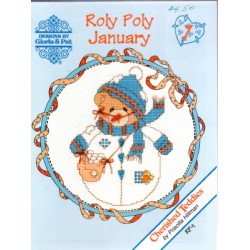 CHERISHED TEDDIES ROLY POLY JANUARY Designs by Gloria and Pat
