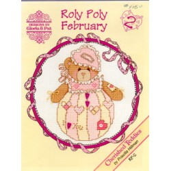 CHERISHED TEDDIES ROLY POLY FEBRUARY Designs by Gloria and Pat