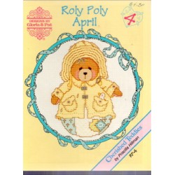 CHERISHED TEDDIES ROLY POLY APRIL Designs by Gloria and Pat