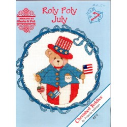 CHERISHED TEDDIES ROLY POLY JULY Designs by Gloria and Pat
