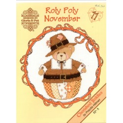 CHERISHED TEDDIES ROLY POLY NOVEMBER Designs by Gloria and Pat