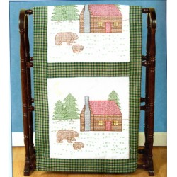 CABINS AND BEARS QUILT BLOCKS 732-316 Jack Dempsey Needle Art