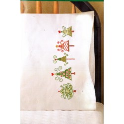 CHRISTMAS TREES PILLOWCASES T232188 Design Works Crafts