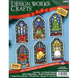 STAINLED GLASS 5909 Design Works Crafts