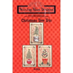 CHRISTMAS TREE TRIO 189 Waxing Moon Designs