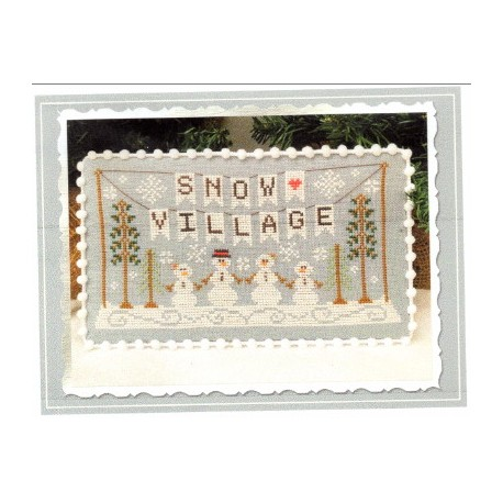 SNOW VILLAGE BANNER Country Cottage Needleworks