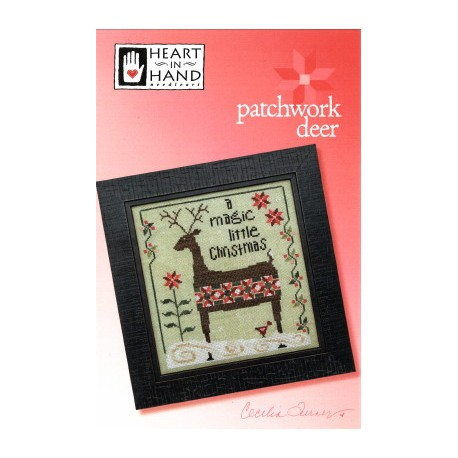 PATCHWORK DEER Heart in Hand