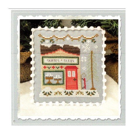 SNOW VILLAGE SKATE AND SLED SHOP Country Cottage Needleworks
