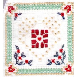 BEYOND CROSS STITCH LEVEL SIX 2 DIVIDED BRANCHES AND SPIDER WEB Victoria Sampler