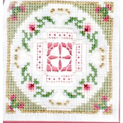 BEYOND CROSS STITCH LEVEL SIX 8 CURLED V IN A FAN Victoria Sampler