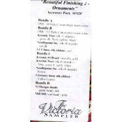 Beautiful Finishing 2 Ornaments Accessory Pack F02P The Victoria Sampler