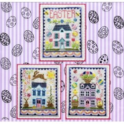 EASTER HOUSE TRIO WM194 Waxing Moon Designs