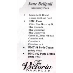 June Bellpull Accessory Pack 04306P The Victoria Sampler