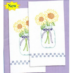 320 716 SUNFLOWERS Stamped Embroidery