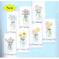 MASON JAR BOUQUETS 340 664 Stamped Embroidery