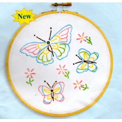 BUTTERFLIES 4096 143 Stamped Embroidery
