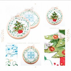 TREE AND FLAKE CHRISTMAS HOOPS Faby Reilly Designs