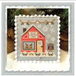 ICED COFFEE CAFE SNOW VILLAGE Country Cottage Needleworks