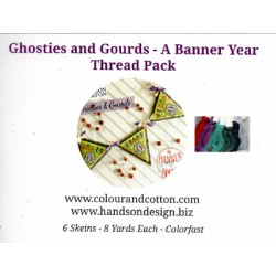 GHOSTIES AND GOURDS A BANNER YEAR THREAD PACK Colour and Cotton