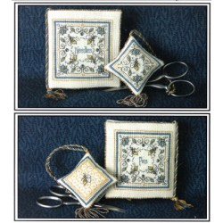 CRYSTAL HONEY NEEDLEBOOK AND FOB SET The Bee Cottage