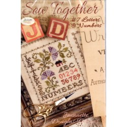 SEW TOGETHER 7 LETTERS AND NUMBERS Jeannette Douglas Designs