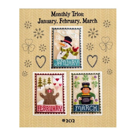 MONTHLY TRIOS JANUARY FEBRUARY MARCH Waxing Moon Designs