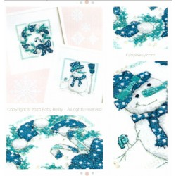 NAVY AND MINT MINI FRAMES SET OF 2 Faby Reilly Designs