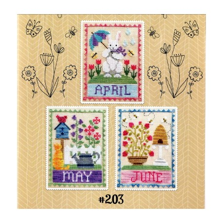 MONTHLY TRIOS APRIL MAY JUNE Waxing Moon Designs