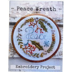 PEACE WREATH (embroidery pattern only - no fabric included) Notforgotten Farm
