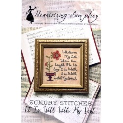 SUNDAY STITCHES IT IS WELL WITH MY SOUL Heartstring Samplery