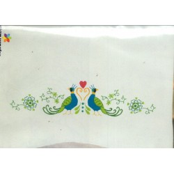 PEACOCK PILLOWCASES T232219 Design Works Crafts Inc.