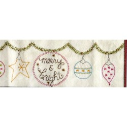 Merry and Bright embroidery kit Bareroots