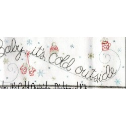Baby Its Cold Outside embroidery kit Bareroots