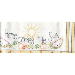 Here Comes The Sun embroidery kit Bareroots