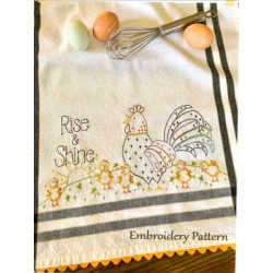 Rise and Shine embroidery pattern only