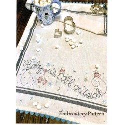 Baby Its Cold Outside embroidery pattern only Bareroots