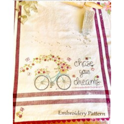 Chase Your Dreams embroidery pattern only Bareroots