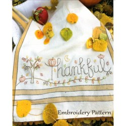 Thankful embroidery pattern only Bareroots