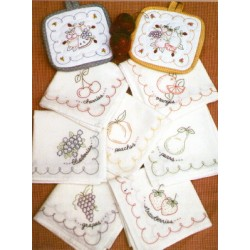Vintage Fruit embroidery pattern only Bareroots