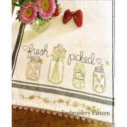 Fresh Picked embroidery pattern only Bareroots
