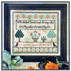 LOUISE HOLDEN 1837 A WITCHS SAMPLER Petal Pusher