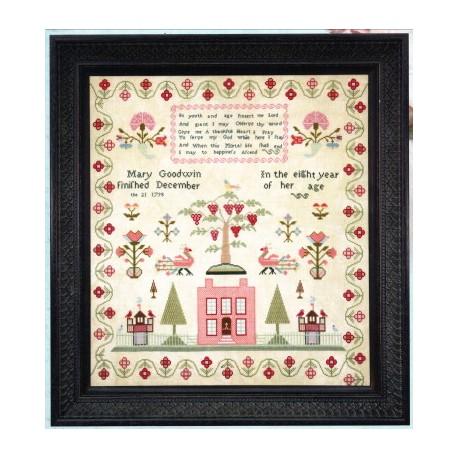 MARY GOODWIN 1798 Hands Across the Sea Samplers